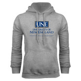 Grey Fleece Hoodie-University Mark Stacked