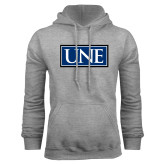 Grey Fleece Hoodie-University Mark UNE