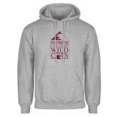 Grey Fleece Hoodie-Westbrook College Wild Cats