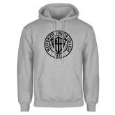 Grey Fleece Hoodie-Westbrook College Seal