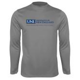 Syntrel Performance Steel Longsleeve Shirt-University Mark Flat