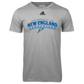 Adidas Climalite Sport Grey Ultimate Performance Tee-University of New England Nor Easters