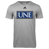 Adidas Climalite Sport Grey Ultimate Performance Tee-University Mark UNE
