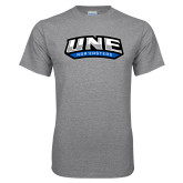 Grey T Shirt-UNE Nor Easters