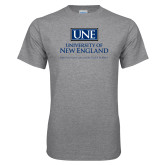 Grey T Shirt-University Mark Stacked