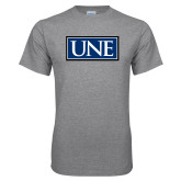 Grey T Shirt-University Mark UNE