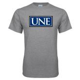 Grey T Shirt-University Mark UNE