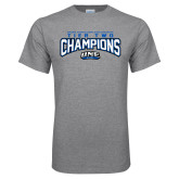 Grey T Shirt-Tier Two Champions - Rugby 2017