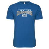 Next Level SoftStyle Royal T Shirt-Tier Two Champions - Rugby 2017
