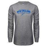 Grey Long Sleeve T Shirt-University of New England Nor Easters