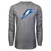 Grey Long Sleeve T Shirt-Lightning Bolt