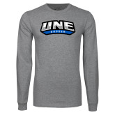 Grey Long Sleeve T Shirt-Soccer