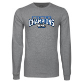 Grey Long Sleeve T Shirt-Tier Two Champions - Rugby 2017