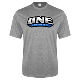 Performance Grey Heather Contender Tee-UNE Nor Easters