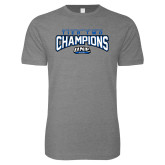 Next Level SoftStyle Heather Grey T Shirt-Tier Two Champions - Rugby 2017