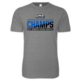 Next Level SoftStyle Heather Grey T Shirt-2017 Womens Cross Country Champions