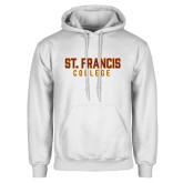 White Fleece Hoodie-St. Francis College