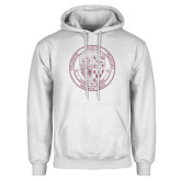 White Fleece Hoodie-St. Francis College Seal