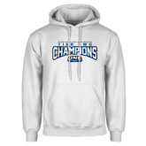 White Fleece Hoodie-Tier Two Champions - Rugby 2017