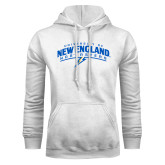 White Fleece Hoodie-University of New England Nor Easters