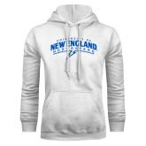 White Fleece Hoodie-University of New England Nor Easters