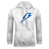 White Fleece Hoodie-Lightning Bolt