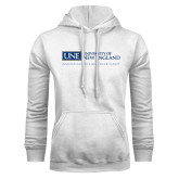 White Fleece Hoodie-University Mark Flat