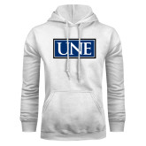 White Fleece Hoodie-University Mark UNE