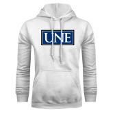 White Fleece Hoodie-University Mark UNE