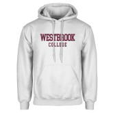 White Fleece Hoodie-Westbrook College