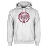 White Fleece Hoodie-Westbrook College Seal