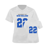 Ladies White Replica Football Jersey-#22