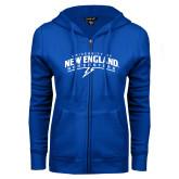 ENZA Ladies Royal Fleece Full Zip Hoodie-University of New England Nor Easters