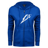ENZA Ladies Royal Fleece Full Zip Hoodie-Lightning Bolt