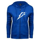 ENZA Ladies Royal Fleece Full Zip Hoodie-Lightning Bolt
