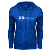 ENZA Ladies Royal Fleece Full Zip Hoodie-University Mark Flat