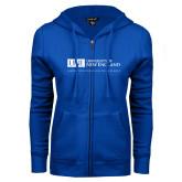 ENZA Ladies Royal Fleece Full Zip Hoodie-University Mark Flat