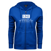 ENZA Ladies Royal Fleece Full Zip Hoodie-University Mark Stacked