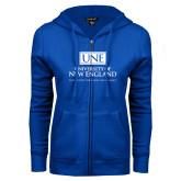 ENZA Ladies Royal Fleece Full Zip Hoodie-University Mark Stacked
