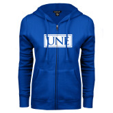 ENZA Ladies Royal Fleece Full Zip Hoodie-University Mark UNE