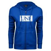 ENZA Ladies Royal Fleece Full Zip Hoodie-University Mark UNE