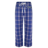 Royal/White Flannel Pajama Pant-UNE Nor Easters