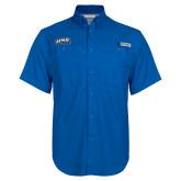 Columbia Bonehead Royal Short Sleeve Shirt-UNE Nor Easters