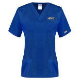 Ladies Royal Two Pocket V Neck Scrub Top-UNE Nor Easters