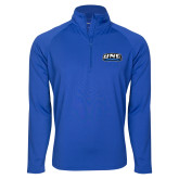 Sport Wick Stretch Royal 1/2 Zip Pullover-UNE Nor Easters