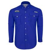 Columbia Bahama II Royal Long Sleeve Shirt-UNE Nor Easters