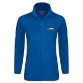 Ladies Fleece Full Zip Royal Jacket-UNE Nor Easters