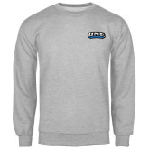 Grey Fleece Crew-UNE Nor Easters