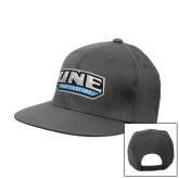 Charcoal Flat Bill Snapback Hat-UNE Nor Easters