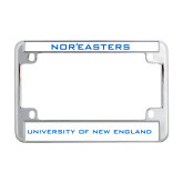 Metal Motorcycle License Plate Frame in Chrome-Nor'easters
